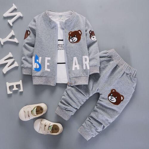 Kleinkind Kinder Jungen Mode Outfits Kleidung Herbst Cartoon Coat Tops Hosen