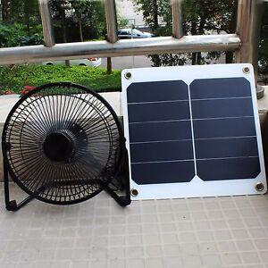 Details about 10W Sunpower Solar Panel 8'' Fan Greenhouse Chicken- Pet  House RV Car Ventilator