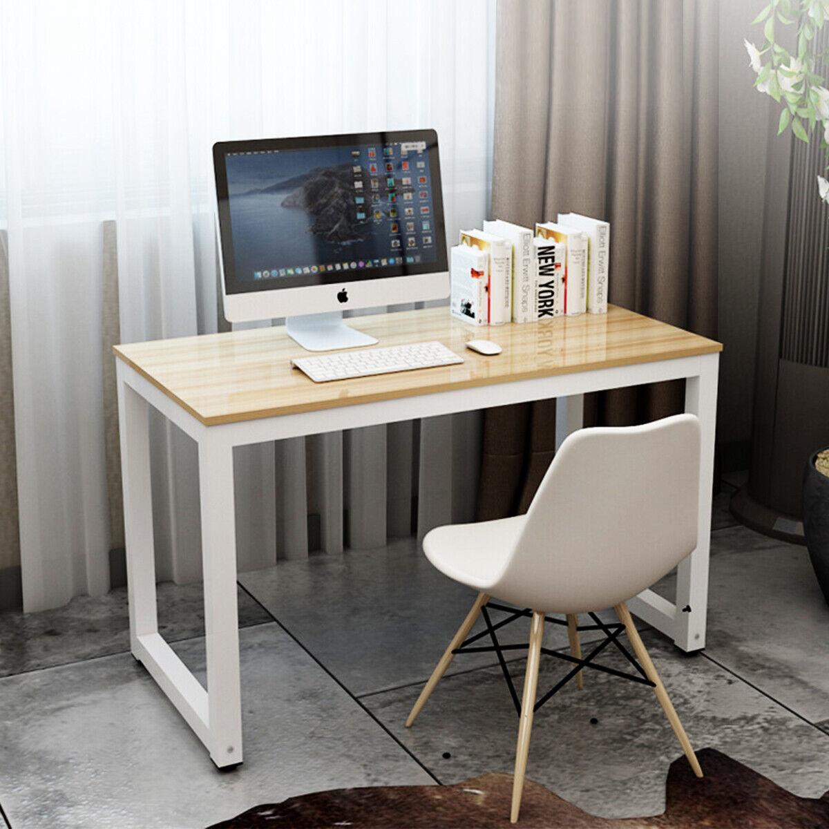 Sharp Lines Modern Desk Home Office Wood Study Writing Laptop File Drawer Gray For Sale Online Ebay