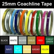 Coach Line | Pin Stripe Tape | 25mm | BOAT/CAR/BIKE | Colour Choice |Water Proof