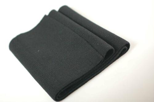 Neotrim Black Lycra Stretch Knit Rib Fabric Panel Cuff Waistband Ribbed Trimming