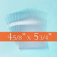 300 Resealable Cello Bags 4 5/8 X 5 3/4 (a2 Cards+ Env); Self Adhesive On Body