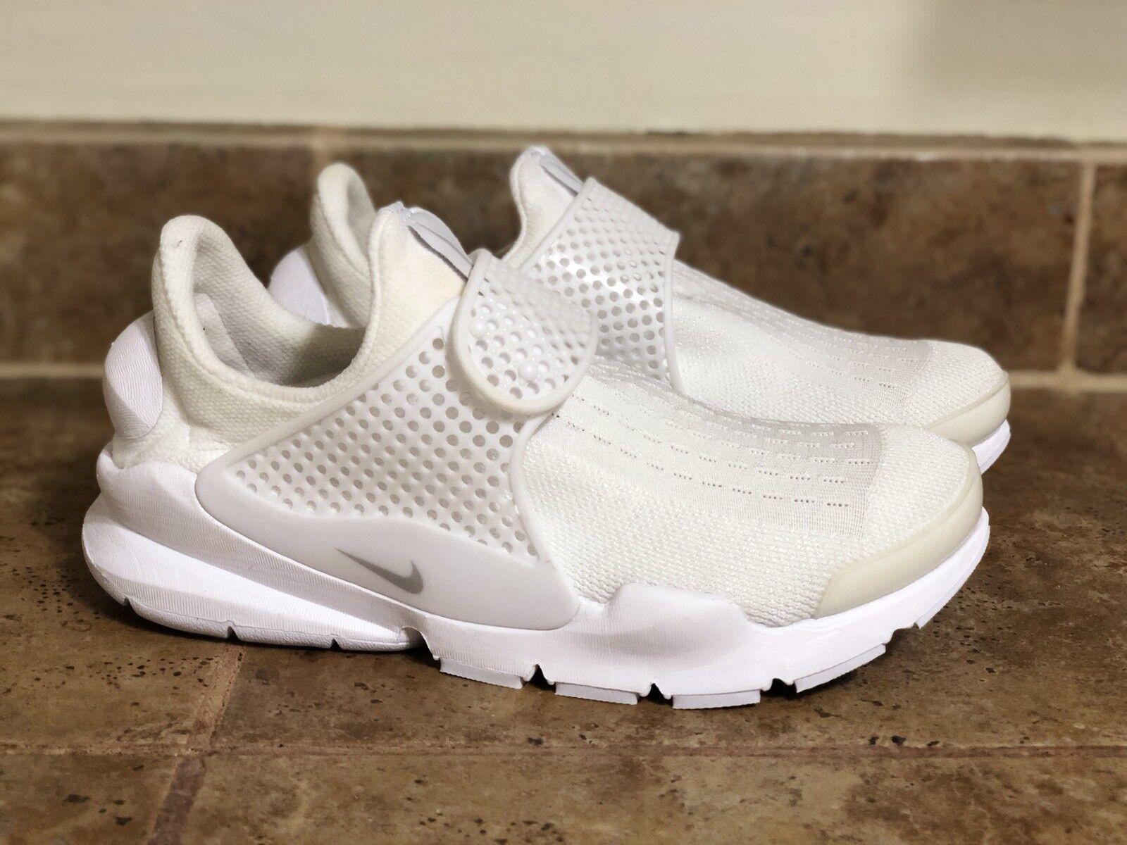 6ecb3c336ba66 Nike Womens Sock Dart Sz 7 Triple White Pure Platinum 848475 100