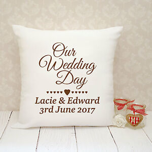 Personalised-Cushion-Cover-Present-Gift-Wedding-Our-Wedding-Day