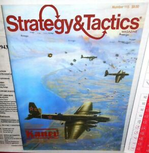 Strategy-amp-Tactics-Mag-w-Game-115-WW2-Kanev-Soviet-Parachutes-1943-1987-UNP