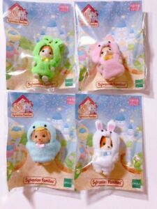 Sylvanian-Families-Calico-Critters-35th-Anniversary-Baby-4-kinds-set-Limited