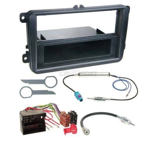Skoda Superb ab 08 1-DIN Autoradio Einbauset Adapter Kabel Radioblende