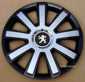 "Quantity 4 Set of 4 15/"" wheel trims Covers to Peugeot 207 Hub Caps"
