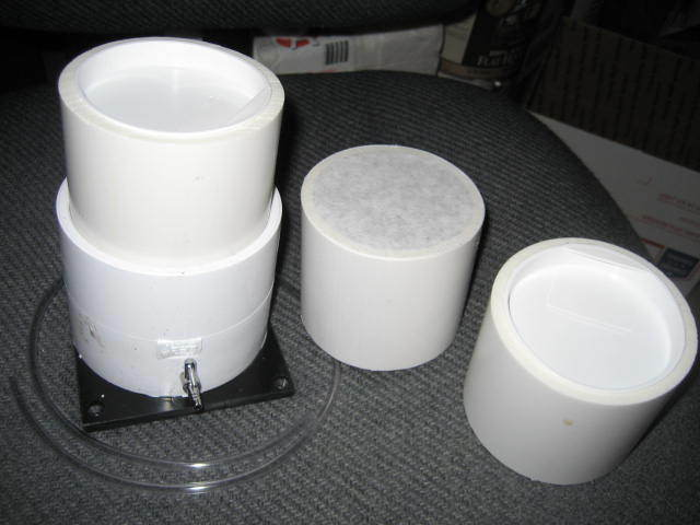 2-   3 inch Fluid Bed Bases Powder Paint System with 6 cups, caps &12 filters