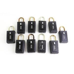 Details about 10 Lockbox (Same code) for Key Storage  Realtor Real Estate 4  Digit Lock box