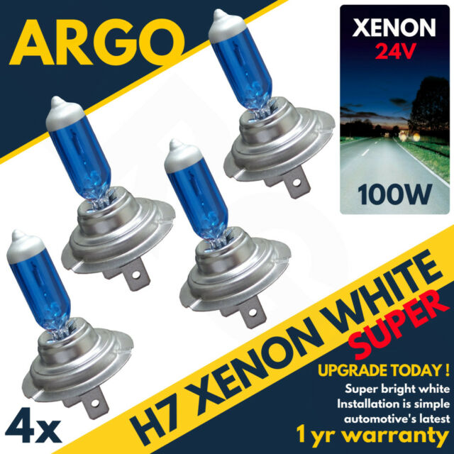 H7 24v Phare 100w Xenon Super Brillant Blanc Ampoules DAF Cf 65 75 85 Hid