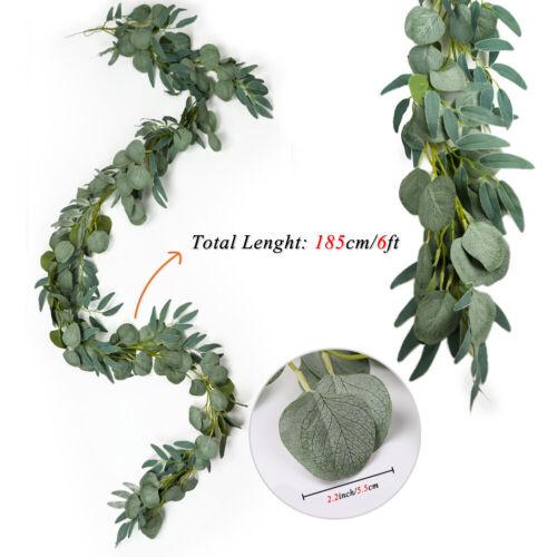 2M Artificial Eucalyptus leaves Garland Vine Wedding Greenery Home Decor USA