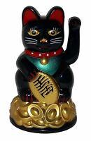 11cm Winkekatze Glückskatze Glücksbringer Maneki Neko Feng Shui Glück Deko Katze