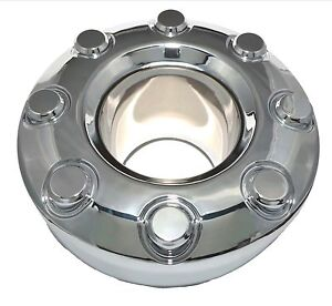NEW-2005-2018-Ford-F-350-F350-Dually-4x4-Open-Front-Wheel-Chrome-Center-Hub-Cap