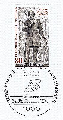 Berlin 1978: Albrecht Von Graefe Nr. 569 Mit Sauberem Ersttagsstempel! 1a! 1511 Hohe QualitäT Und Preiswert