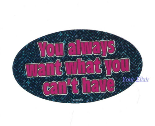 YOU ALWAYS WANT WHAT YOU CAN/'T hAVE Holographic Sticker