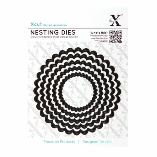 etc X cut 5 PC festonnée Circle Nesting Die Set Use in Xcut Sizzix machines