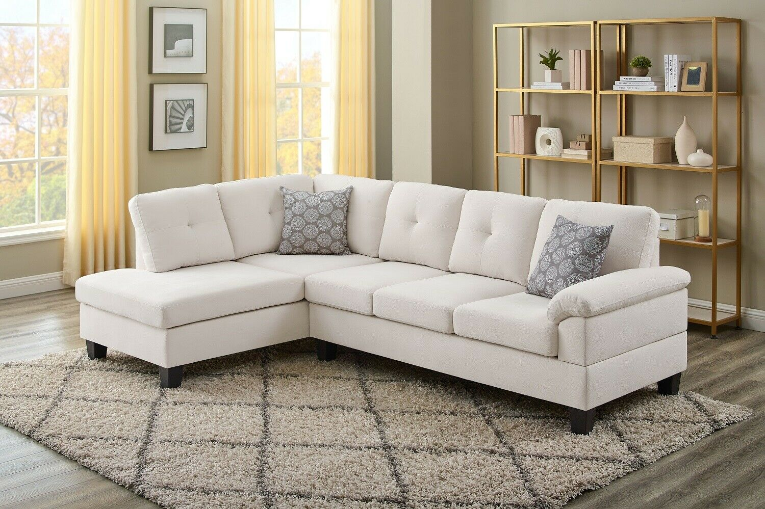 Picture of: Small Sectional Sofa Reversible Chaise Couch Love Seat Living Room Set Apartment For Sale Online Ebay