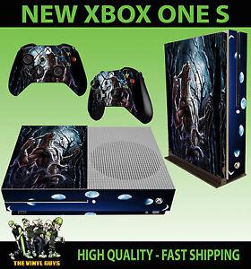 Discipliné Xbox One S Fin Console Autocollant Loup-garou Moon Supernatural Skin & 2 Pad Vous Garder En Forme Tout Le Temps