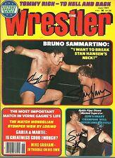 EB511 Bruno Sammartino vs Stan Hansen signed wrestlin  magazine Masked Superstar