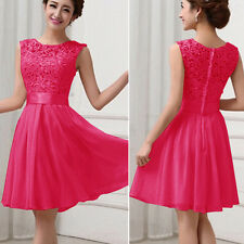Womens Chiffon Dresses Evening Formal Party Ball Gown Prom Bridesmaids Cocktail