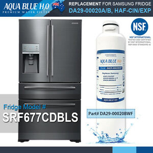 Details About Samsung Srf677cdbls French Door Fridge Water Filter With Nsf