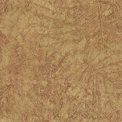York Brown Tossed Leaves with Sheen Embossed Wallpaper CL1808