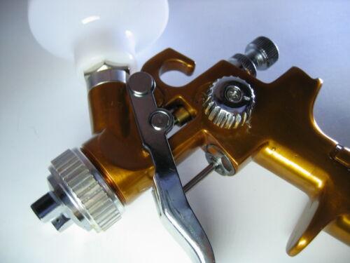 NEUE LACKIERPISTOLE 0,8mm Mini Eco-Pro Düse JET Spritzpistole Airbrush Modellbau