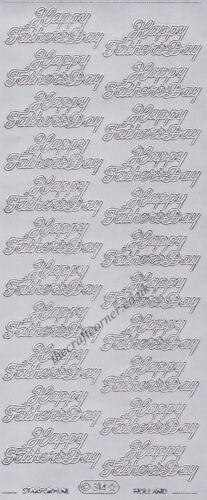 Feliz Día del Padre saludo 1 X Plata despegar para elaboración de Tarjetas artesanías de papel