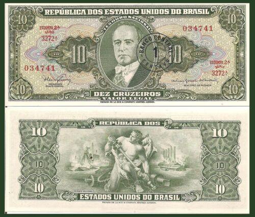 1 Centavo President Getúlio Vargas // allegorical man Brazil P183b 1967 UNC