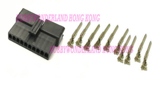 JST 2.5 SM 10-Pin Male Connector Housing Plug with male crimp terminal x 30 SETS