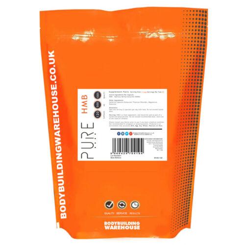 Pure HMB Capsules Beta-hydroxy beta-methylbutyrate Leucine Metabolite 500mg 120