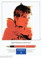 PUBLICITE ADVERTISING 1016  1994  le stylo plume Lady Charlotte part  Waterman