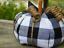 Fabric Pumpkin Home Decor Black White Buffalo Plaid