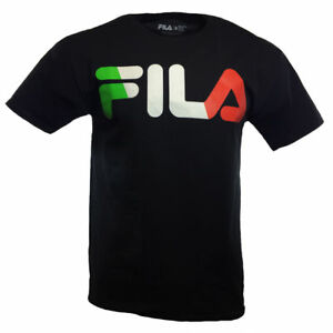 FILA-Mens-T-Shirt-S-L-XL-2XL-3XL-Logo-Italy-Flag-Sports-Athletic-Apparel-Tee
