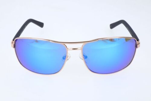New Guess Sunglasses GU 6835 28x Gold with Blue Mirrored Mirror Lenses w Case