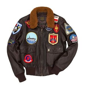 Cockpit-USA-034-Movie-Heroes-034-Top-Gun-Navy-G-1-Jacket-Brown-USA-MADE-Z201036T