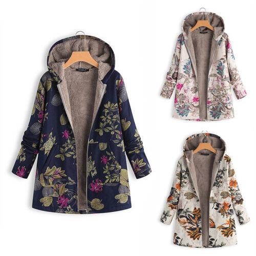 Womens Winter Long Sleeve Hooded Sweatshirt Warmer Jacket Coat Outwear Overcoat