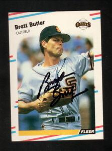 Details About Brett Butler Autograph San Francisco Giants 1988 Fleer Update Baseball Card