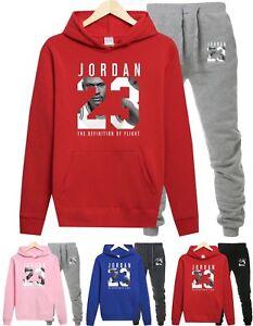 NEW-Mens-Michael-Air-Legend-23-Jordan-Tracksuit-Hoodie-amp-Pants-Men-Sportswear