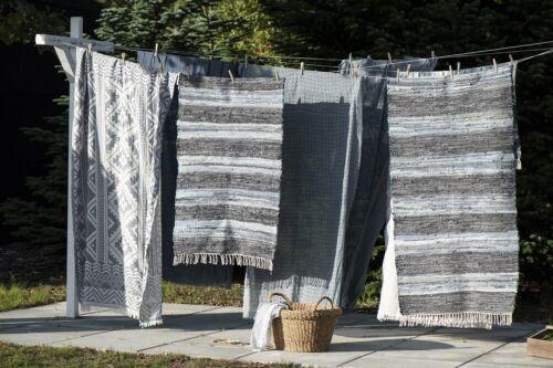 Denim Rug Stripes 70x120 cm by Ib Laursen