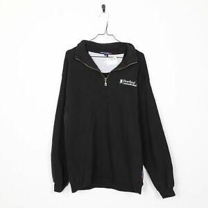 Vintage-HEARTLAND-Graphic-1-4-Zip-Sweatshirt-Black-Medium-M