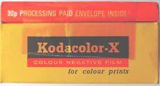 Película Kodak Kodacolor Colores X 120 comprimidos caducado 1972 comprimidos