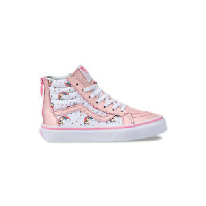 Details zu VANS Unicorn Rainbow Sk8 Hi Zip Kids | Lemonade PinkTrue White (VN0A3276UGL)