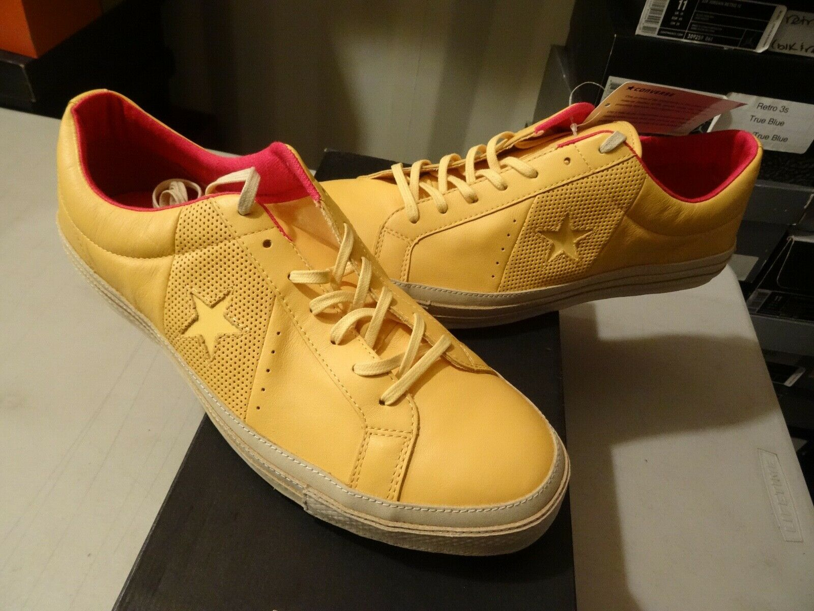 NEW RARE Converse X Undefeated OS ONE ALL STAR CLASSIC 74 OX YELLOW 117869 Sz 13