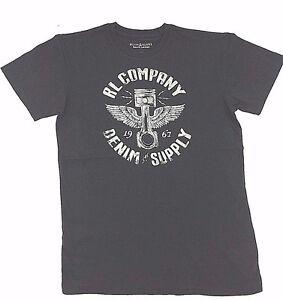 140-Polo-Ralph-Lauren-Men-Gray-Wings-Logo-Brand-Crew-Neck-Fit-T-Shirt-Tee-M
