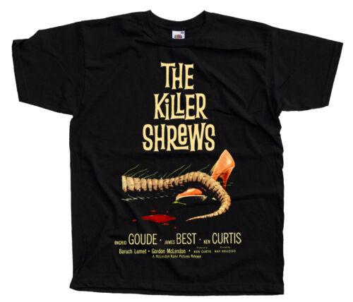 THE KILLER SHREWS V1 Movie Poster T SHIRT Black ALL SIZES S-5XL