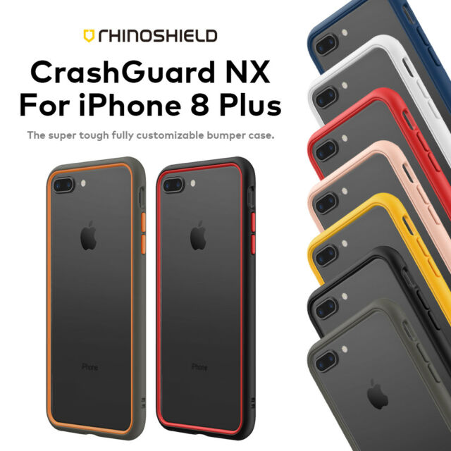 best loved bbb75 718fd RhinoShield CrashGuard NX for iPhone 8 Plus | Rhino Shield Crash Guard  Bumper
