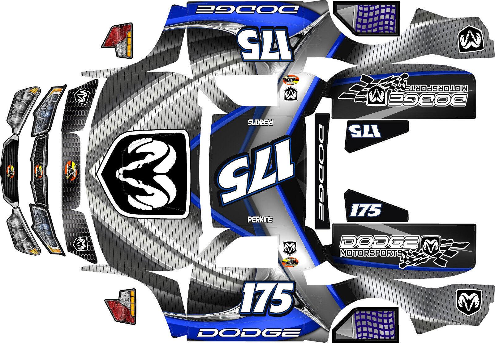 Losi 5ive T Dodge MotorDeporte tema Body Wrap Calcomanías Stickers Grandes Flex Rovan