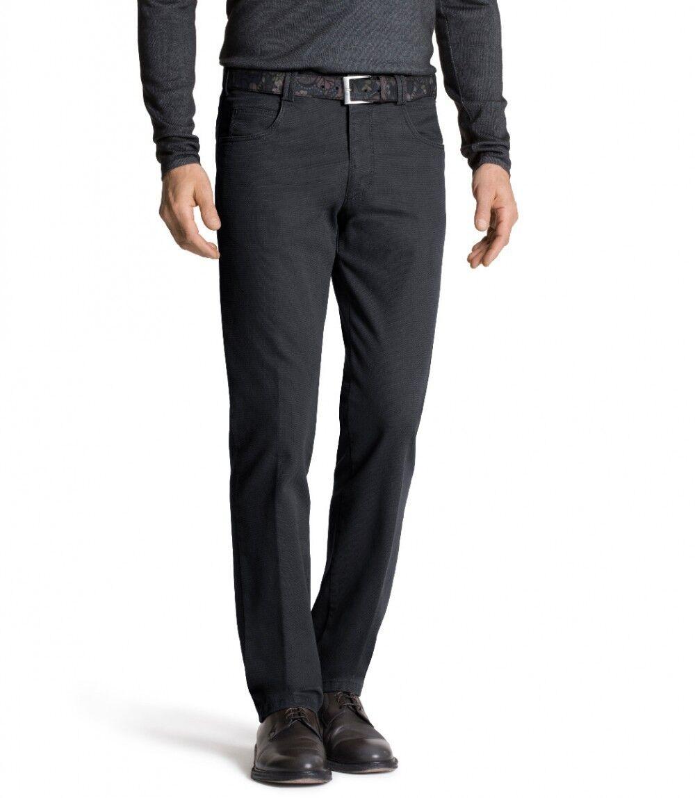 MEYER Uomo Stretch Pantaloni Diego con cintura 2-5537 07 GRIGIO